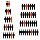 1 Out of Every Statistic Figures. An illustration featuring your choice of humanlike figures in groups of 2 to 10 for illustrating statistics, for example: 1 out Royalty Free Stock Image