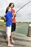 1 pêche de garçons Photo libre de droits