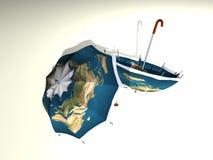 1 płyty 2 parasolkę Obrazy Royalty Free
