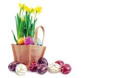 1 panier Pâques Photos libres de droits