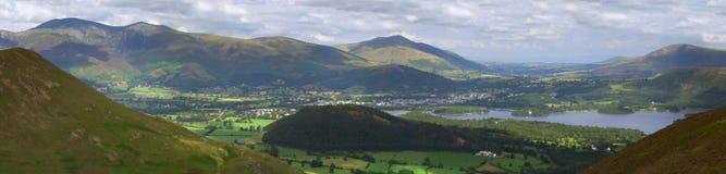 1 panorama- keswick Arkivbild