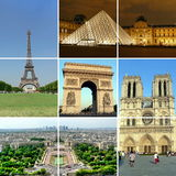 1 Paris kolaż fotografia stock