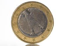 1 parte posterior del euro Imagen de archivo libre de regalías