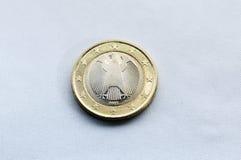 1 parte posterior del euro Foto de archivo libre de regalías