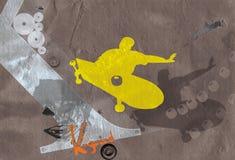 1 patineur d'illustration illustration de vecteur