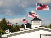 1 patriotiska rooftop Royaltyfri Fotografi