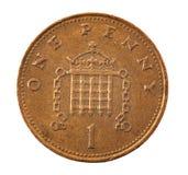 1 penny de pièce de monnaie Photographie stock