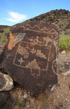 1 petroglyph Royaltyfria Bilder