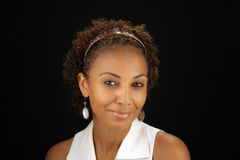 (1) pięknego czarny headshot dojrzała kobieta Obrazy Stock