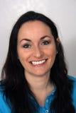 (1) pięknej brunetki życzliwy headshot Obraz Royalty Free