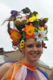 (1) piękny kwiatu dziewczyny uśmiech Zdjęcia Royalty Free