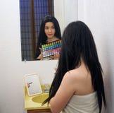 (1) piękna dziewczyny makeup paleta nastoletnia Obraz Royalty Free