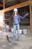 (1) piękni pracownik budowlany potomstwa Fotografia Stock