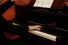 1 pianist Arkivbilder