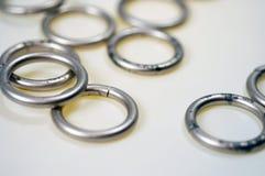 1 pierścienie metali zdjęcia royalty free