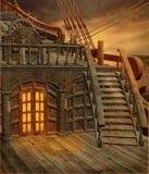 1 piratkopierar shipen stock illustrationer