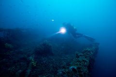 (1) podwodny wrak Zdjęcie Royalty Free