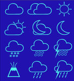 1 pogoda ikony Zdjęcia Stock