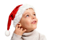 1 pojke santa Arkivfoton