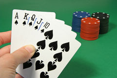 1 pokera. Fotografia Stock