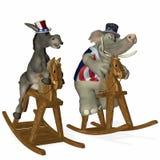 1 politiska race för häst Arkivbild
