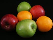 1 pomarańcze jabłka Zdjęcie Stock