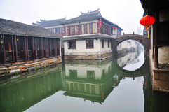 (1) porcelana żadny grodzki wodny zhouzhuang Obrazy Royalty Free