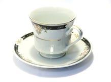 1 porcelanowa spodka filiżanki herbaty Zdjęcia Royalty Free