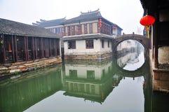 1 porslin ingen townvattenzhouzhuang Royaltyfria Bilder