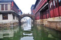 1 porslin ingen townvattenzhouzhuang Royaltyfri Bild