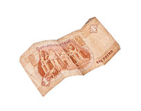 1 pound bill of Egypt Stock Photos