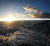 (1) powulkaniczny krajobrazu rockowy Zdjęcia Stock