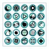 1 praktiska version för symboler Fotografering för Bildbyråer