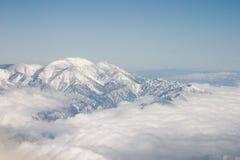 1 räknade bergsnow Fotografering för Bildbyråer