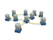1 réseau de connexion images stock