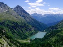 1 réservoir de montagne Image libre de droits