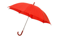 1 röda paraply royaltyfria foton