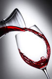 1 rött vin Arkivbild