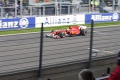 1 race för bilferrari formel Arkivfoto