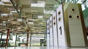 1 rad för flygplatskontrollräknare Arkivfoton