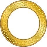 1 ramowy rundę złota Zdjęcia Royalty Free