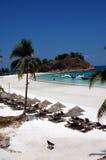 1 redand pulau пляжа Стоковое Изображение