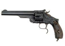 1 retro revolver Arkivfoton