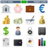 1 σειρά robico εικονιδίων χρηματ Στοκ Εικόνες