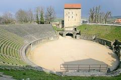 1 roman amfiteater Royaltyfri Foto