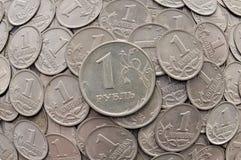 1 ruble Arkivfoton