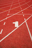 1 on a running track  line Royalty Free Stock Images