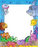 (1) ryba obramiają morze Obrazy Stock