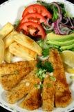 1 ryby z frytkami Obrazy Stock