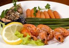 1 salmon шримс Стоковая Фотография RF